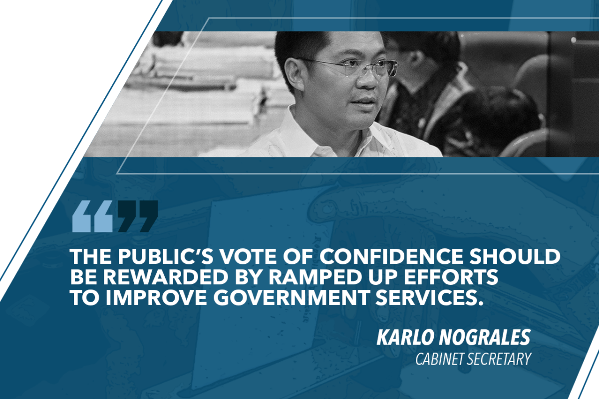 DESPITE HIGH RATINGS, DUTERTE ADMIN TO RAMP UP EFFORTS TO IMPROVE SERVICES – NOGRALES