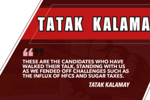 WE ENDORSE FOR SENATORS CHAMPIONS OF THE SUGAR INDUSTRY – TATAK KALAMAY