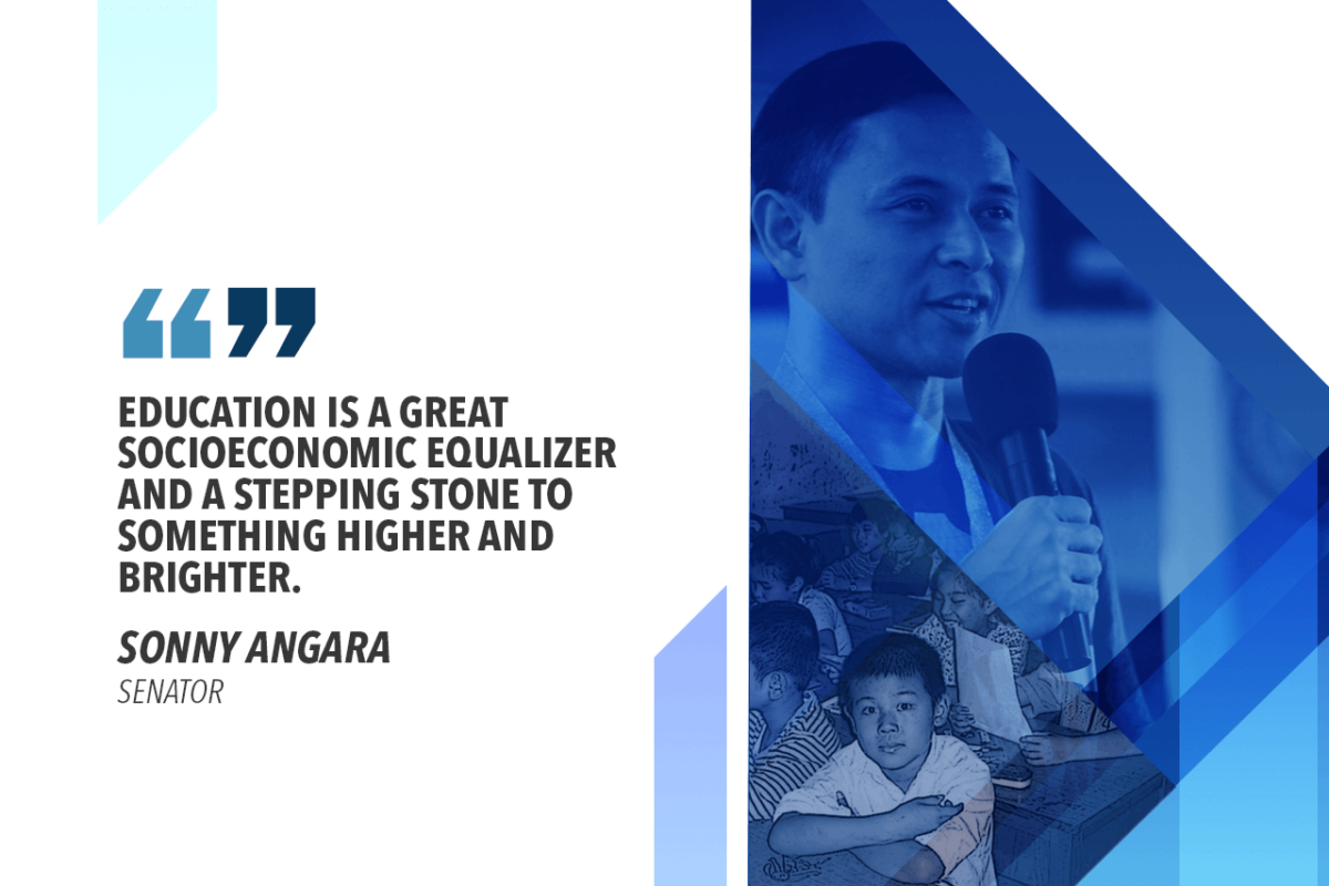 MAKE USE OF FREE PUBLIC EDUCATION – ANGARA