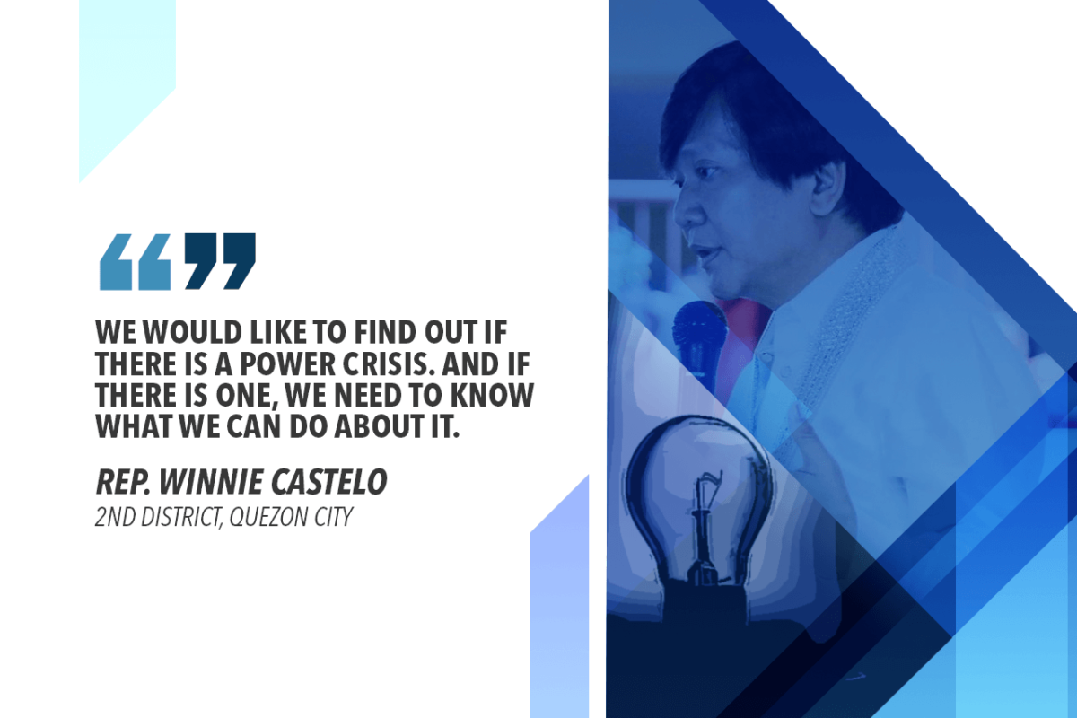 IS THERE A POWER CRISIS IN METRO MANILA? – CASTELO