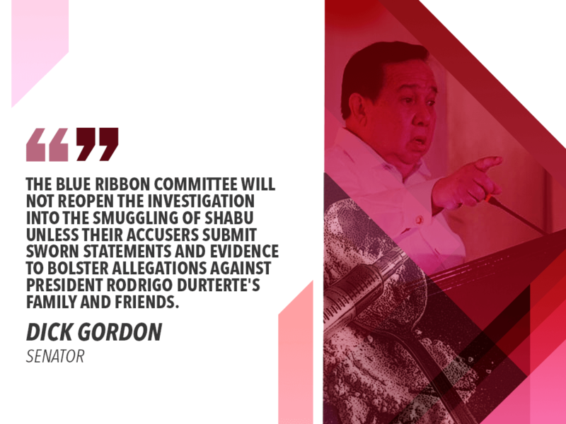 PRESENT ACIERTO, 'BIKOY' TO REOPEN SENATE DRUG PROBE – GORDON