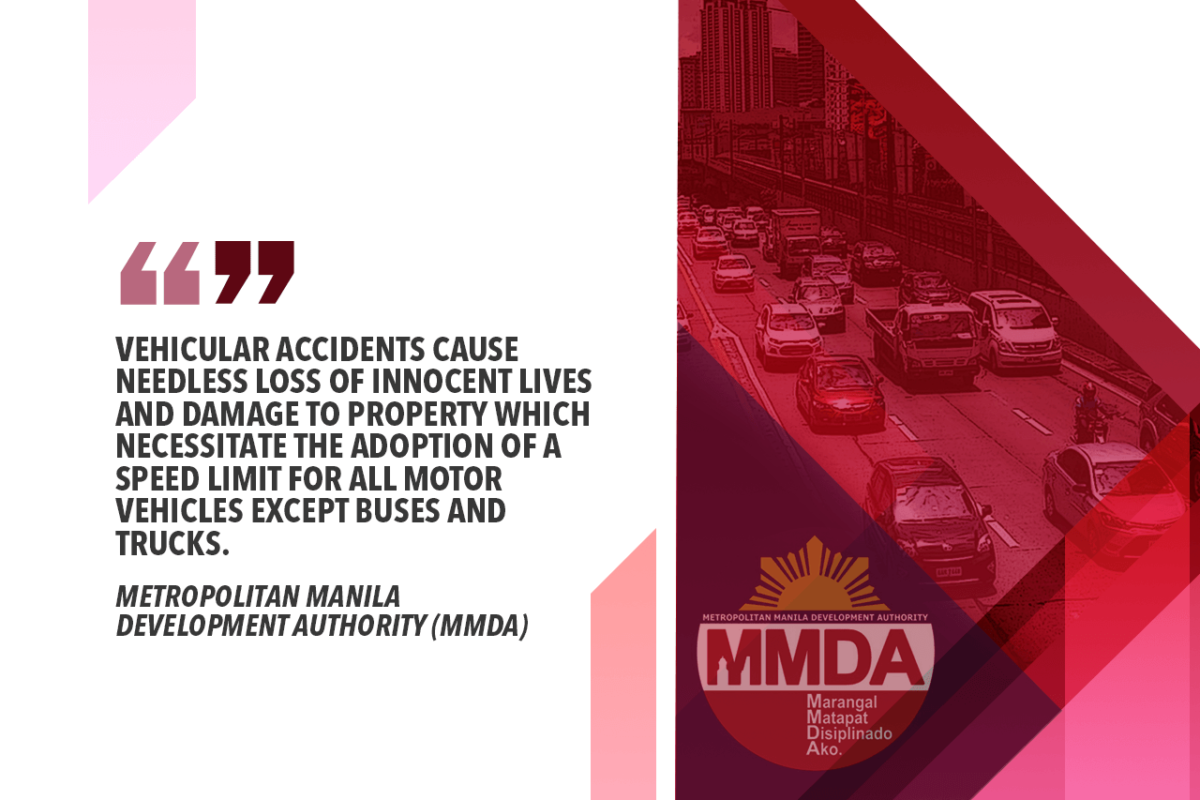 60 KPH LIMIT ALONG MCR MAJOR ROADS TO BE IMPOSED – MMDA