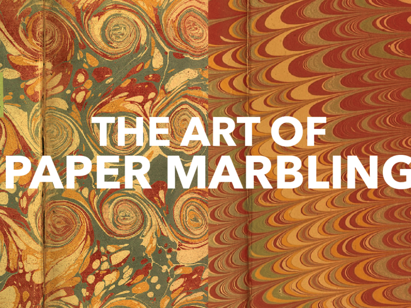 COCKERELL AND SON'S ART OF PAPER MARBLING