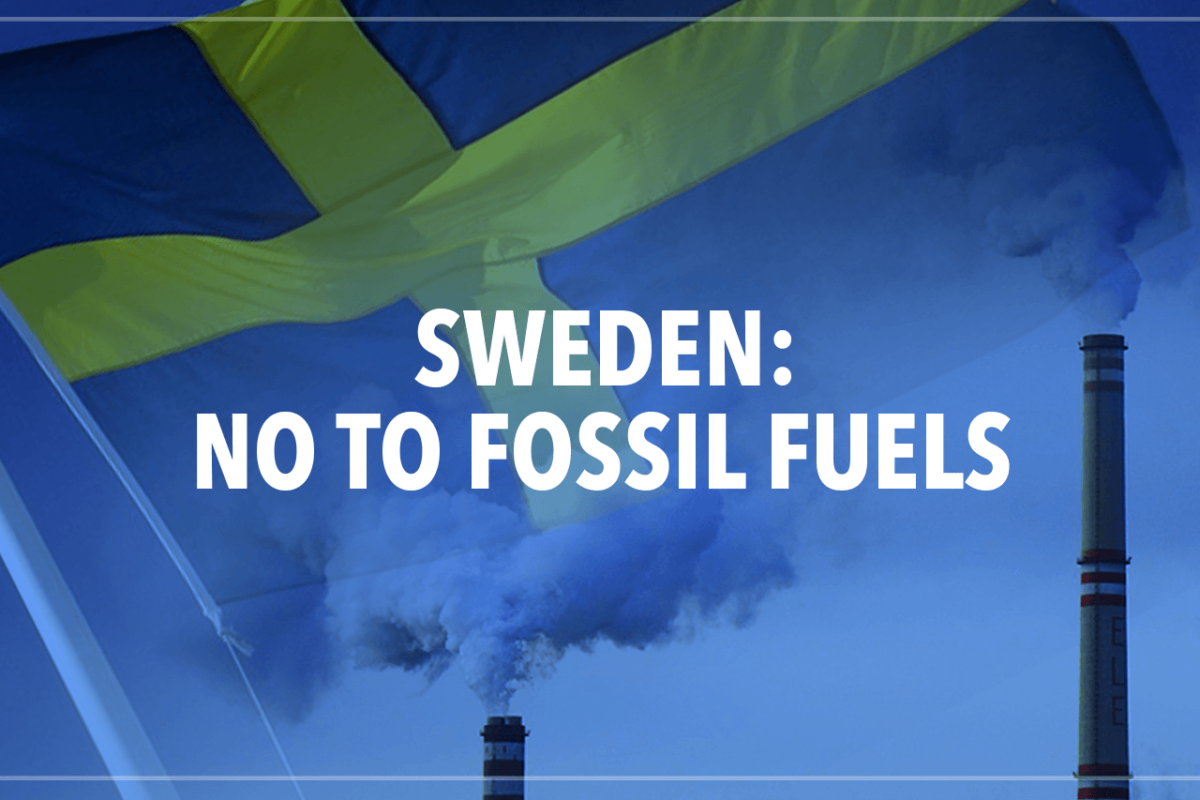 SWEDEN: A FOSSIL FUEL-FREE COUNTRY BY 2050