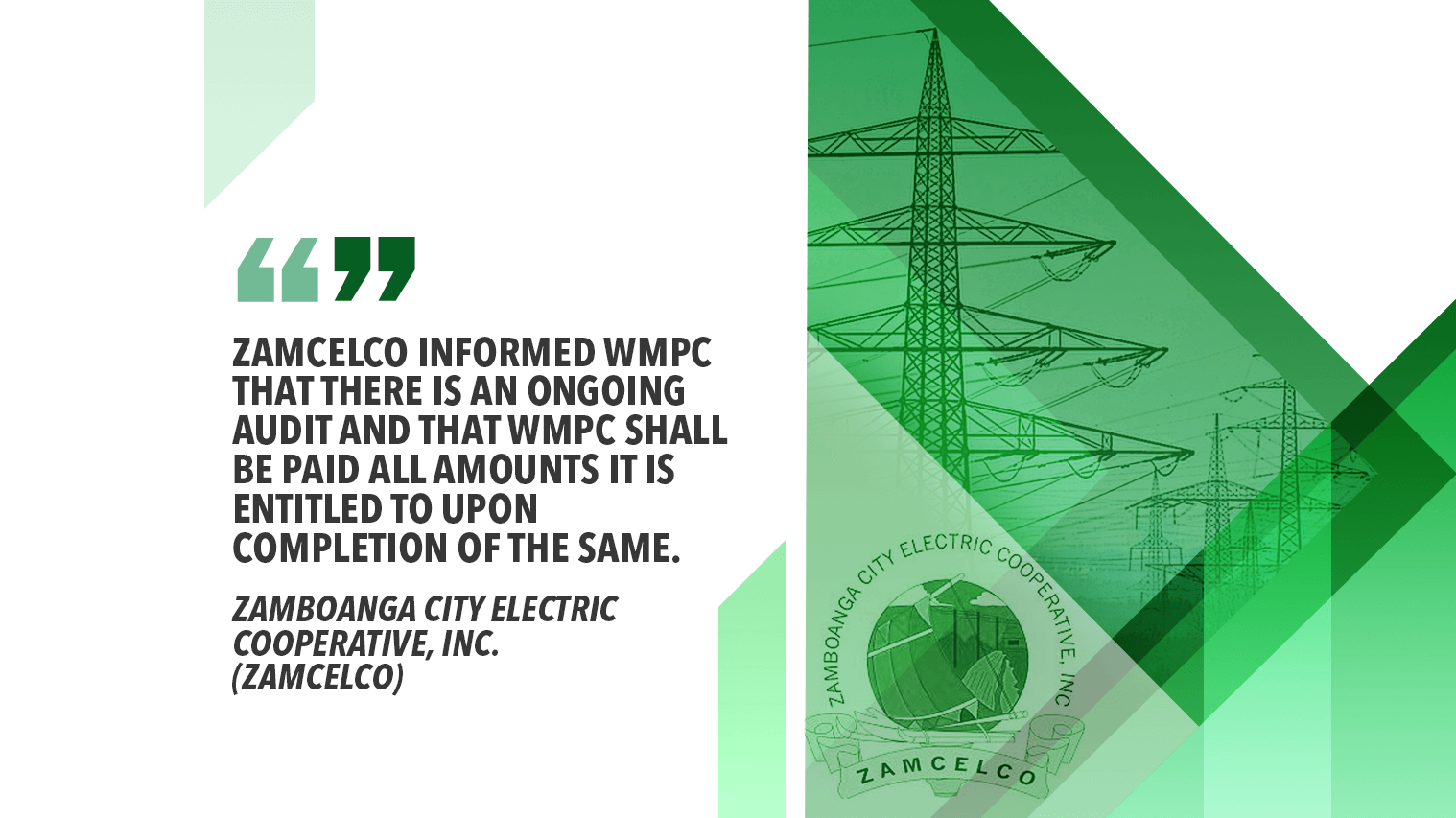 NEA TO ZAMBOANGA CITY ELECTRIC COOP: CONSIDER ALL OPTIONS FOR POWER