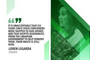 LEGARDA COMMENDS GOVT'S STRONG RESOLVE VS CANADA TRASH DUMP IN PH