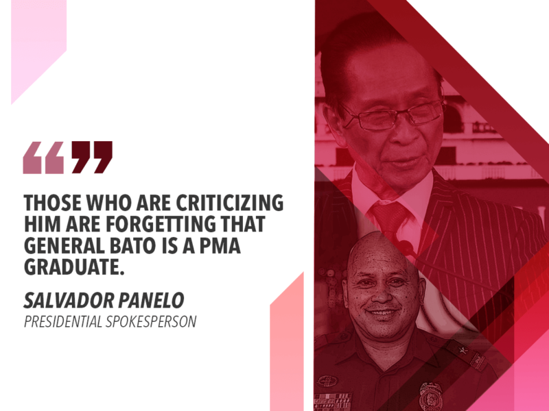 LET'S NOT UNDERESTIMATE GENERAL BATO – PANELO