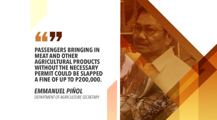IMPLEMENT STRICTER MEASURES ON ENTRY OF IMPORTED MEAT – PIÑOL