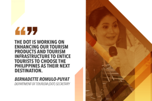 PH TOURIST ARRIVALS UP BY 7.59% IN FIRST QUARTER OF 2019 – ROMULO-PUYAT