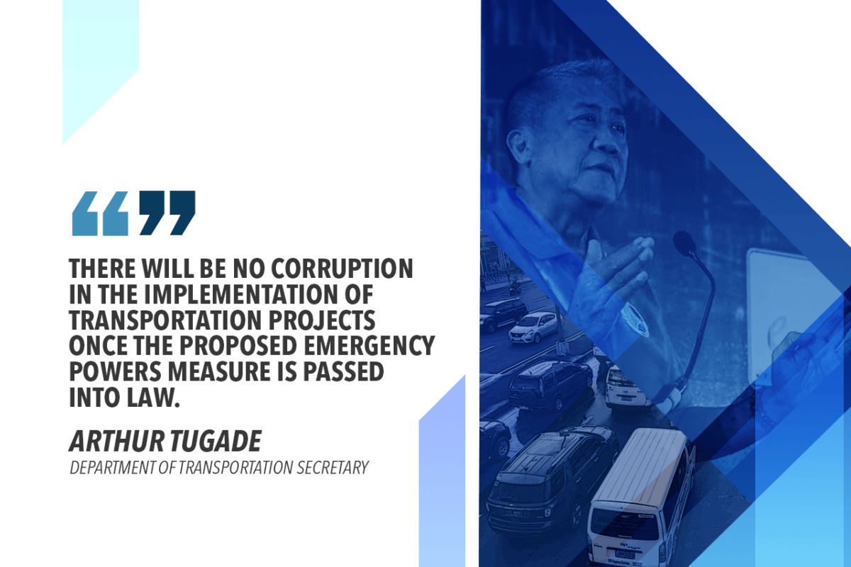 DOTr SUPPORTS TOLENTINO IN REFILING EMERGENCY POWERS MEASURE TO SOLVE TRAFFIC WOES – TUGADE