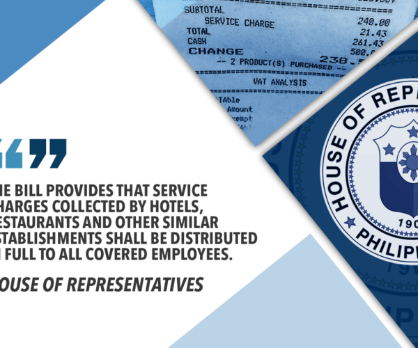HOUSE RATIFIES BICAM REPORT ON SERVICE CHARGE BILL