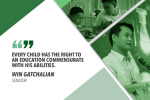 ESTABLISH SPECIAL EDUCATION CENTERS IN PUBLIC SCHOOLS – GATCHALIAN