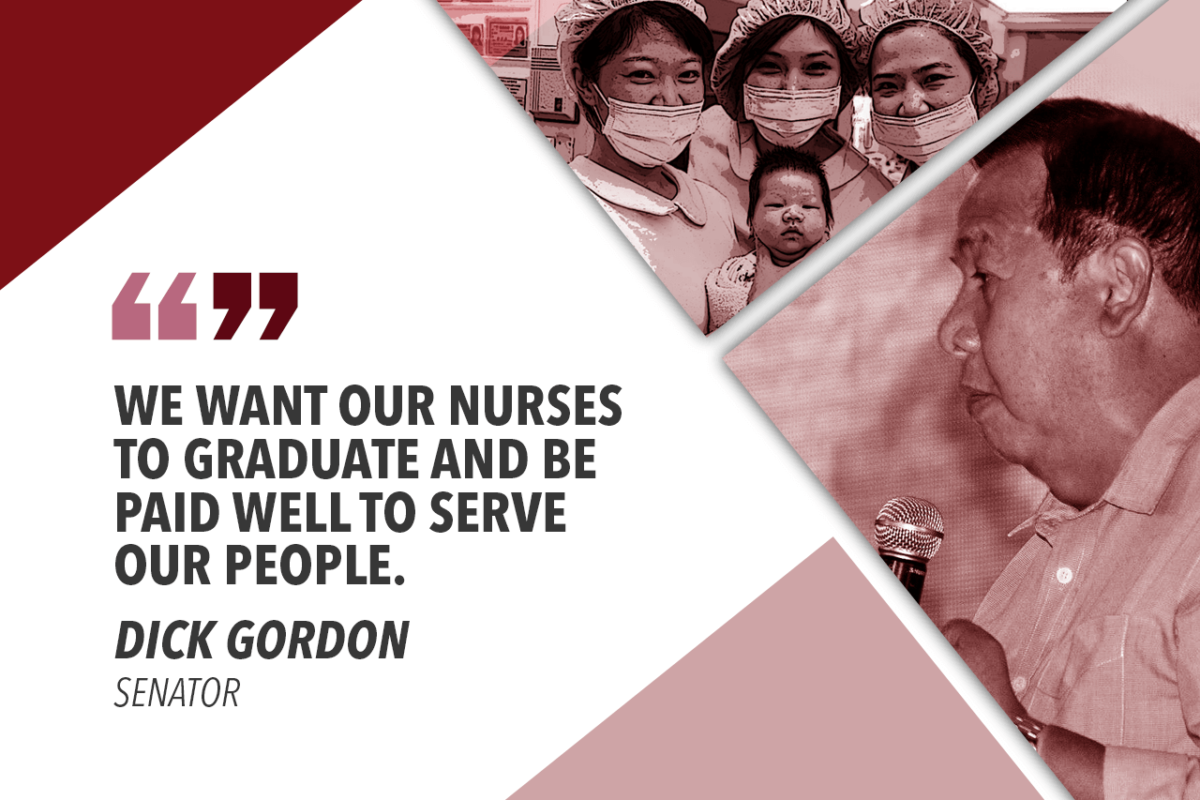 NURSES SHOULD BE WELL COMPENSATED – GORDON