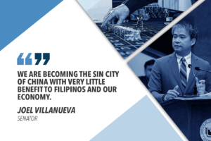 PAGCOR SHOULD REGULATE OFFSHORE GAMING FIRMS – VILLANUEVA