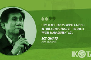CIMATU TO ILOCOS NORTE MAYORS: PRIORITIZE CONSTRUCTION OF LANDFILLS