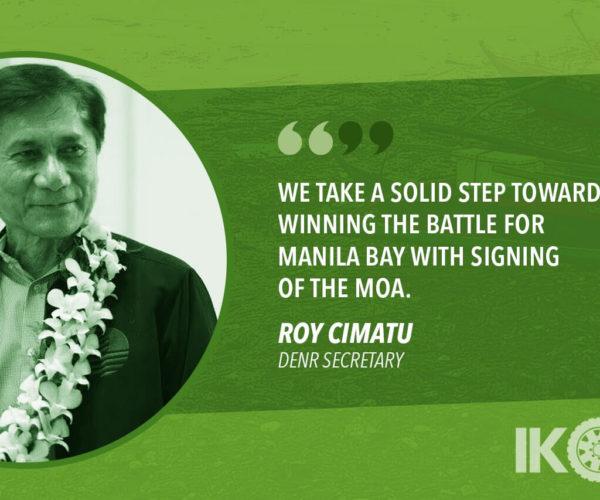 ABOITIZ GROUP IS NEW DENR ALLY IN FIGHT TO SAVE MANILA BAY – CIMATU