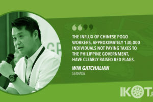 PROBE UNCOLLECTED TAXES FROM POGO WORKERS – GATCHALIAN
