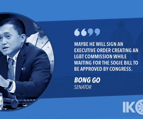 DUTERTE TO CREATE LGBTQ COMMISSION – GO