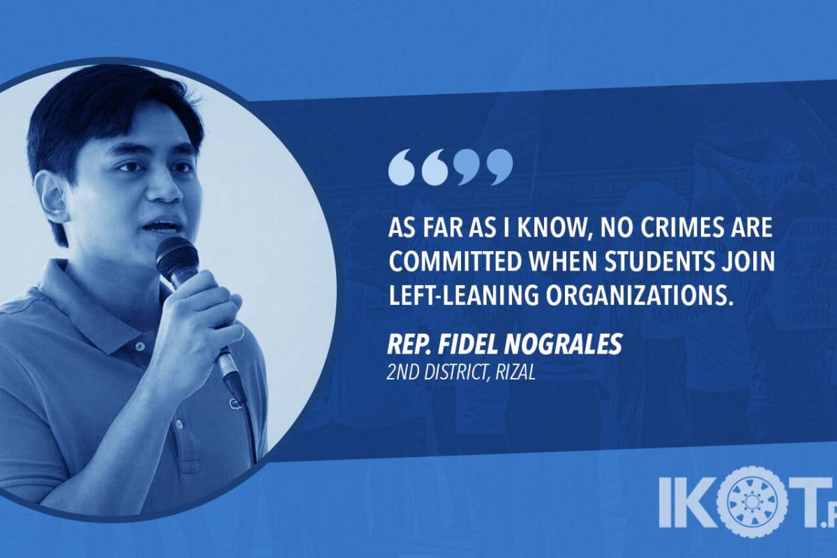 REP. NOGRALES BUCKS PROPOSALS TO INCREASE POLICE PRESENCE IN SCHOOLS