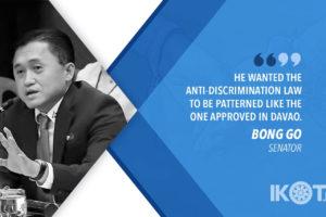 DUTERTE FOR ANTI-DISCRIMINATION LAW, NOT SOGIE BILL – GO