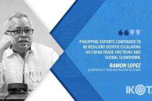 GREATER ACCESS IN ASEAN, JAPAN, EU, US, CHINA BOOST PH EXPORTS – LOPEZ