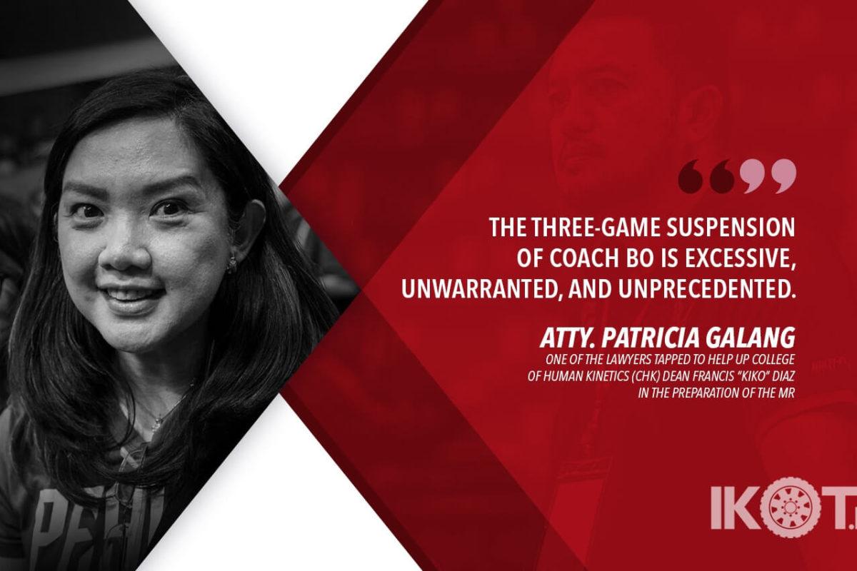 UP appeals Perasol three-game suspension