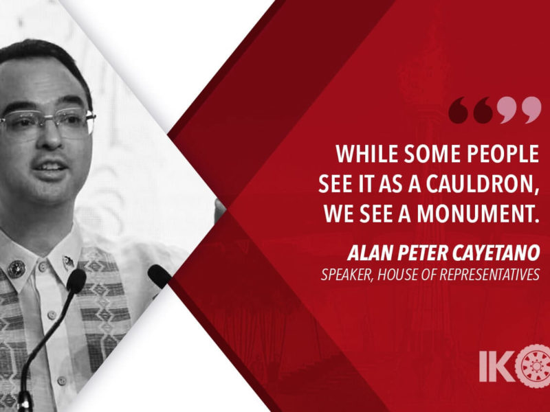 THE SEA GAMES CAULDRON IS A WORK OF ART – CAYETANO