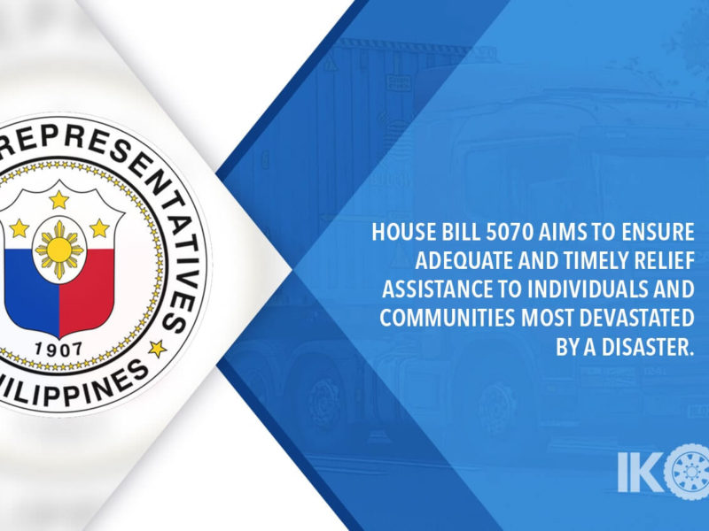 HOUSE APPROVES BILL PROVIDING FREE FREIGHT SERVICES FOR RELIEF GOODS
