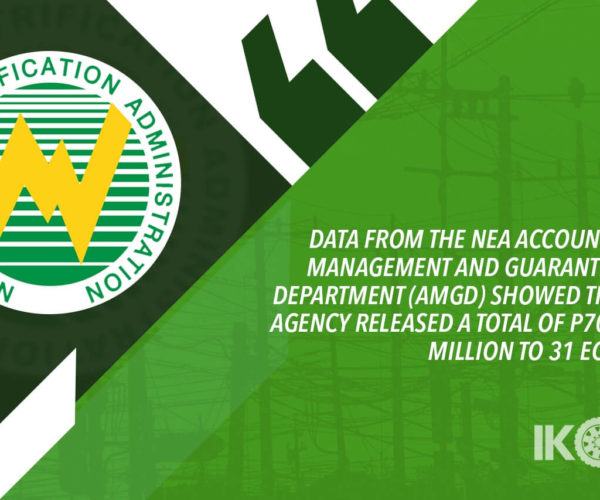 ELECTRIC COOPS GOT P700M IN LOANS FOR 2019 — NEA