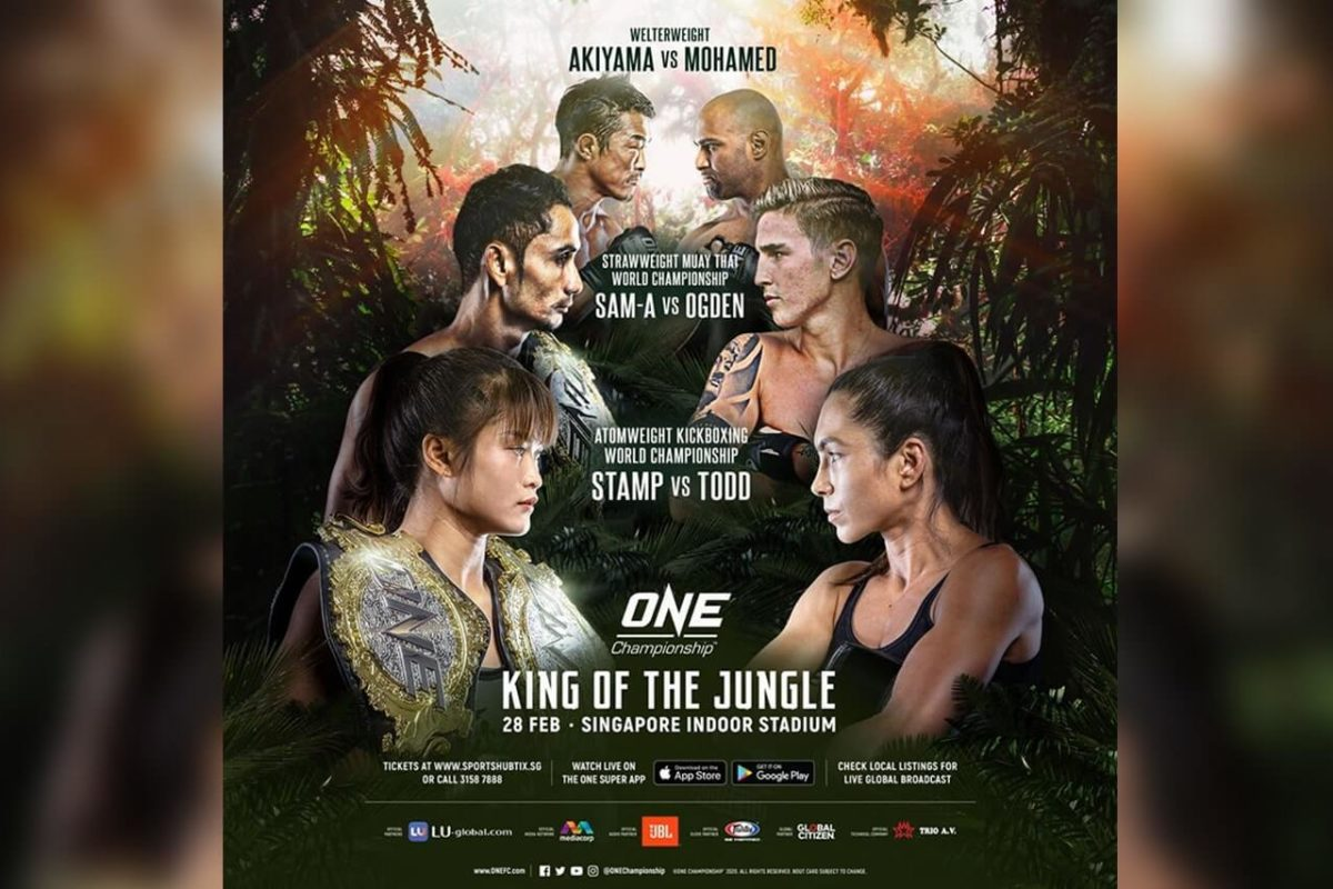 ONE 'KING OF THE JUNGLE' IN SINGAPORE NOW A 'FOR BROADCAST ONLY' EVENT