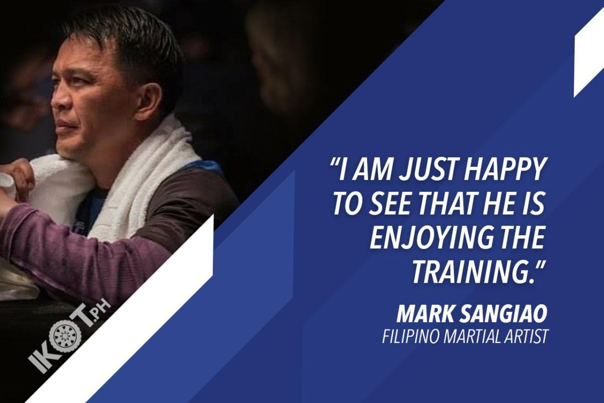 MARK AND JHANLO SANGIAO – LEGENDARY FILIPINO MARTIAL ARTIST PLEASED WITH SON'S PROGRESS