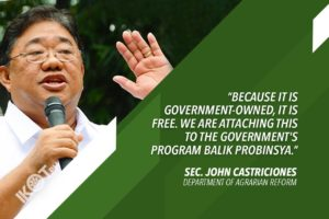DAR TO GIVE 'BALIK PROBINSYA' BENEFICIARIES LAND FOR AGRICULTURE – CASTRICIONES