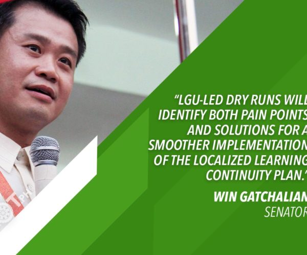 GATCHALIAN: CONDUCT DISTANCE LEARNING DRY RUNS BEFORE CLASSES START