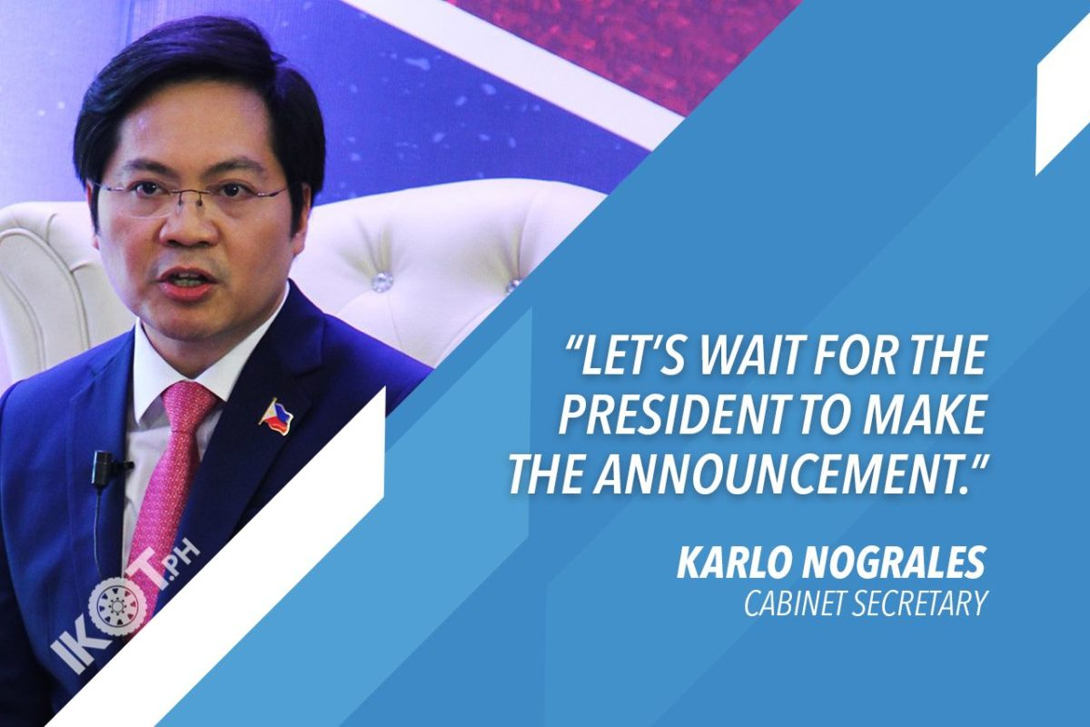 NOGRALES SAYS MGCQ POSSIBLE FOR METRO MANILA ON JULY 16