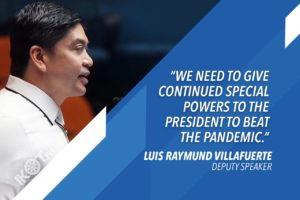 VILLAFUERTE: HOUSE READY TO CONVENE SPECIAL SESSION TO PASS BAYANIHAN 2