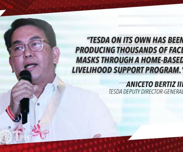 TESDA TO PRODUCE UP TO 50M REUSABLE FACE MASKS TO BE DISTRIBUTED TO PUBLIC – BERTIZ
