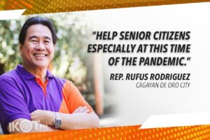 DOUBLE MONTHLY PENSION OF SENIORS TO P1,000 – RODRIGUEZ