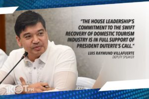 HOUSE LEADERSHIP COMMITS FULL SUPPORT TO TOURISM RECOVERY—VILLAFUERTE