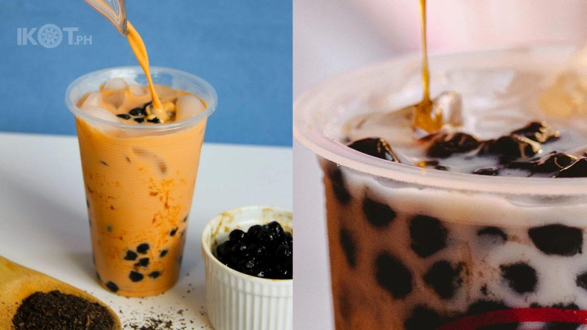 photo of bubble milk tea
